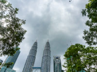 RAF Typhoons perform flypast of Petronas Twin Towers