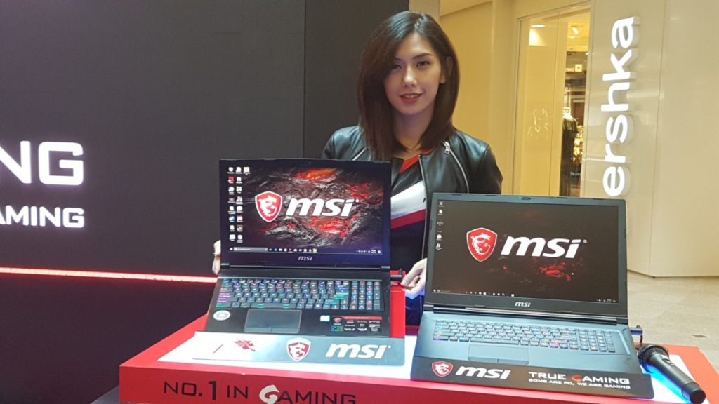 Close up of MSI Ge63vr and Ge73vr Raider notebooks