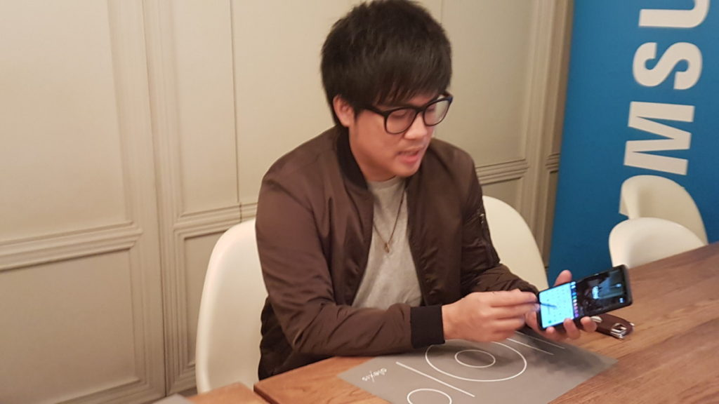 Jinnyboy sharing more about the S Pen stylus on the Galaxy Note8