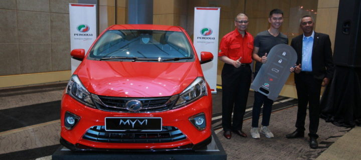 Perodua delivers their 18,000th Myvi for Chinese New Year
