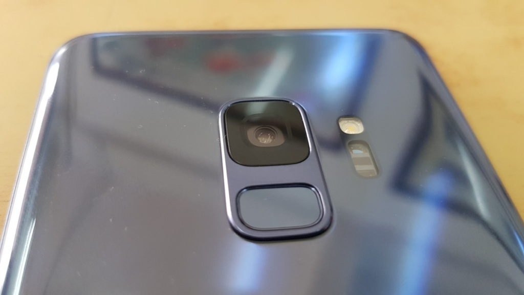 The repositioned rear fingerprint sensor on the S9 is emplaced beneath the camera and has a slight groove to make it easier to find by touch.