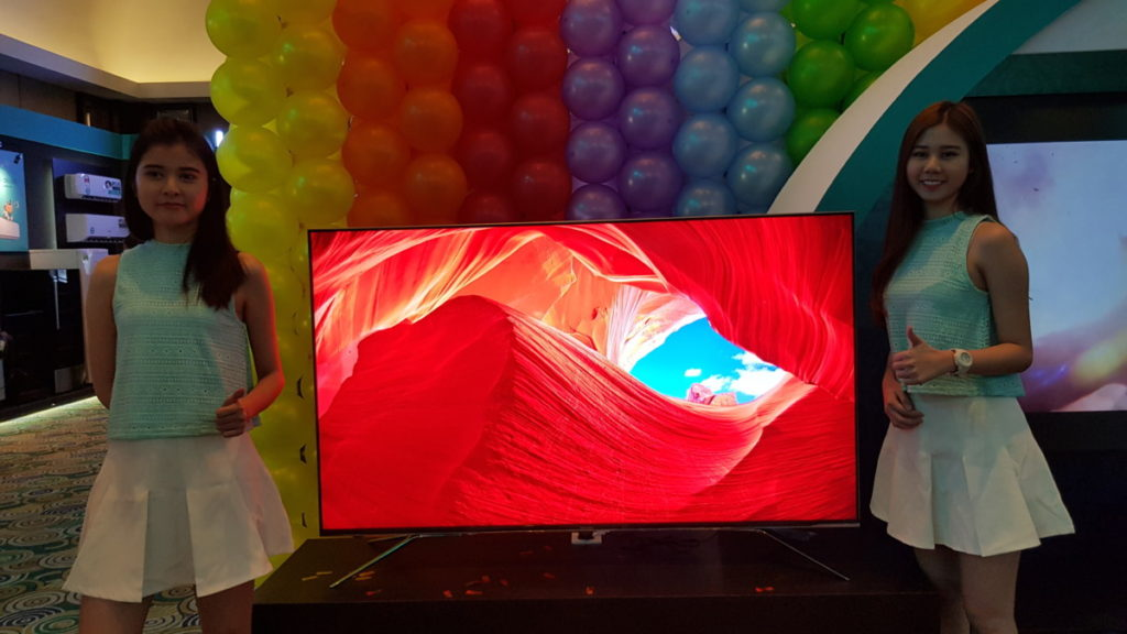 The Hisense U7A TV was on display at the launch