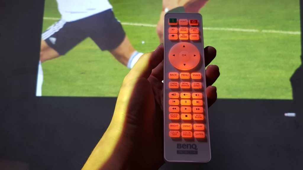 The illuminated remote control allows for you to use it easily in the dark