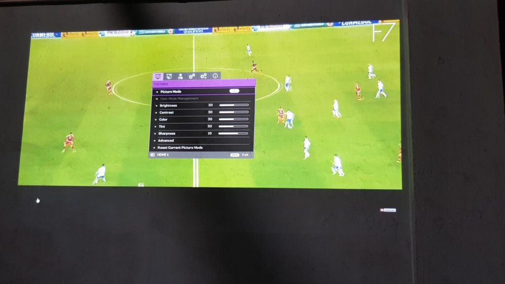 You can finetune the settings as you so desire on the BenQ TK800