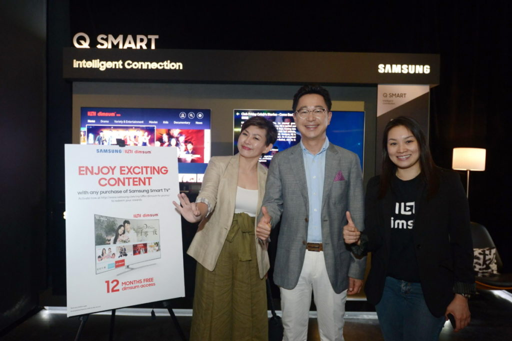 From left: Elaine Soh, Chief Marketing Officer for Samsung Malaysia Electronics, Yoonsoo Kim, President of Samsung Malaysia Electronics and dimsum Chief Marketing Officer Lam Swee Kim.