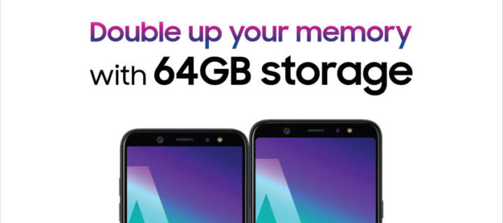 Samsung offers to double your memory with Galaxy A6 and A6+ purchase