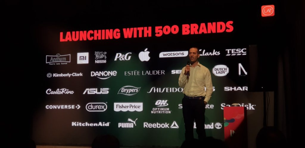 A selection of the brands available on LazMall