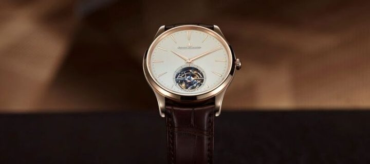 Ultra Thin Tourbillon in pink gold by Jaeger-Lecoultre takes class up a notch
