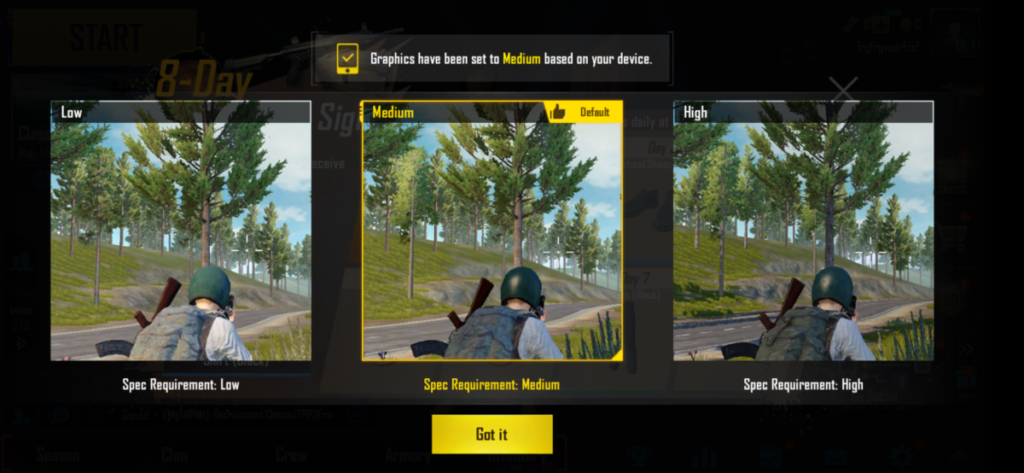 PUBG was very playable at casual settings on the Redmi Note 7