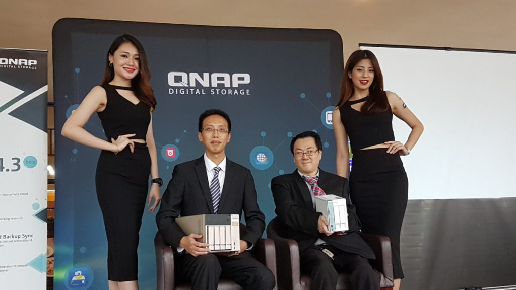 From left: Arthur Yeh, Head of Business Development of QNAP Asia Pacific and Alvin Ting, QNAP Sales Manager for Malaysia