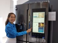 Samsung's cool looking new Family Hub 2.0 fridge seen at SEA Forum 2017