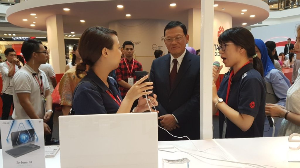 Mr James Chi-Ping Chang, Representative of the Taipei Economic and Cultural Office in Malaysia touring the exhibits at the Taiwan Excellence Pavilion