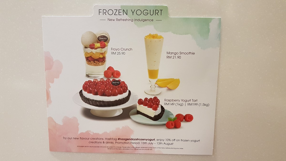 Frozen yogurt flavors