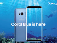 The Galaxy S8 and S8+ now come in Coral Blue