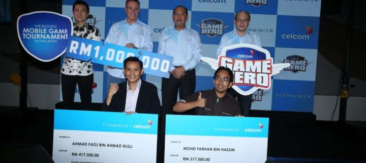 Celcom Game Hero tournament winners rewarded RM1,000,000 in cash