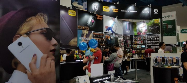 KWS Distribution debuts workhorse General Mobile GM 5 Plus phone and bargains galore for Otterbox, Moshi and X-Mini at Malaysia IT Fair