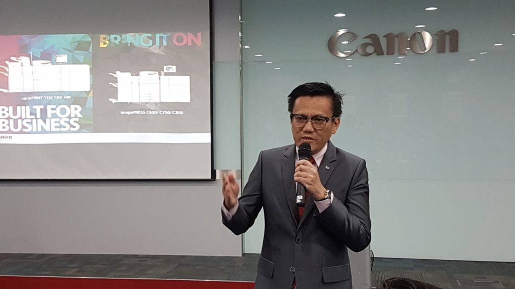 Mr. Andrew Koh, President and CEO of Canon Marketing (Malaysia)