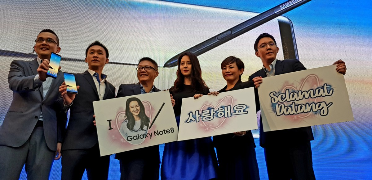 Song Ji-Hyo rocks Pavilion Mall at Galaxy Note8 Malaysia launch