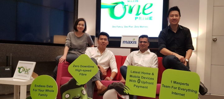MaxisONE Prime plan offers unlimited data for the whole family from RM367 per month