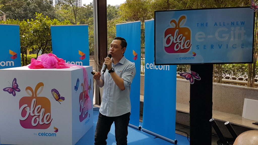 Zalman Aefendy Zainal Abidin, Chief Marketing Officer, Celcom Axiata Berhad sharing more abotu the new OLEOLE e-gifting service