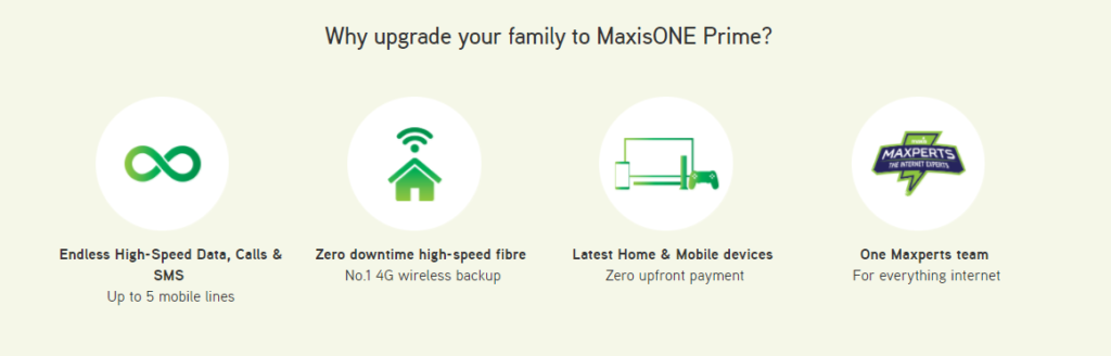 MaxisONE Prime plan offers unlimited data for the whole