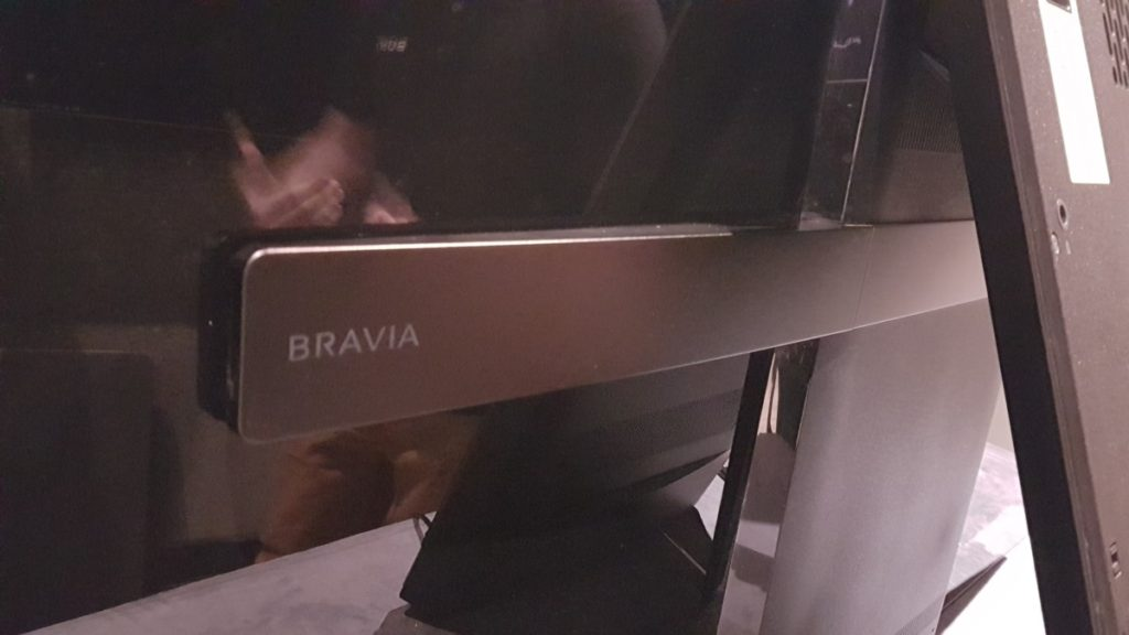 Sony Bravia KD-65A1 TV rear close-up