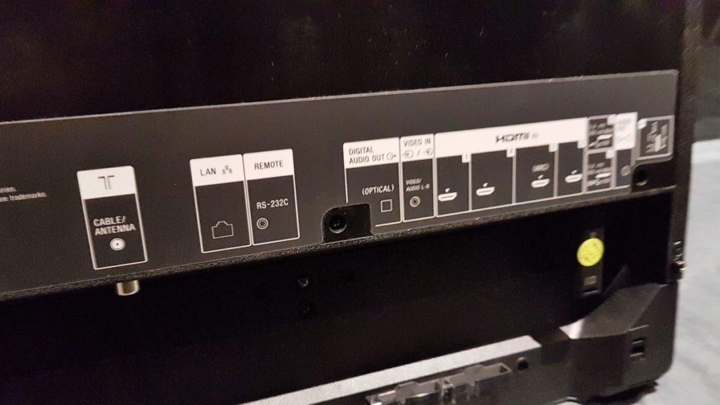 Sony Bravia KD-65A1 TV ports