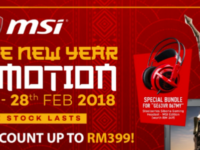 MSI announces grand Chinese New Year promotions on selected laptops