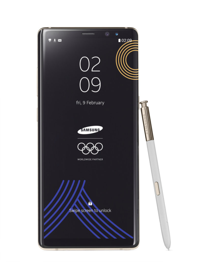 Galaxy Note8 Winter Olympics 2018 limited edition front