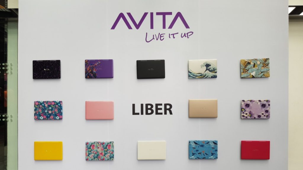 A selection of the customisable aesthetic variants available for the Avita LIBER