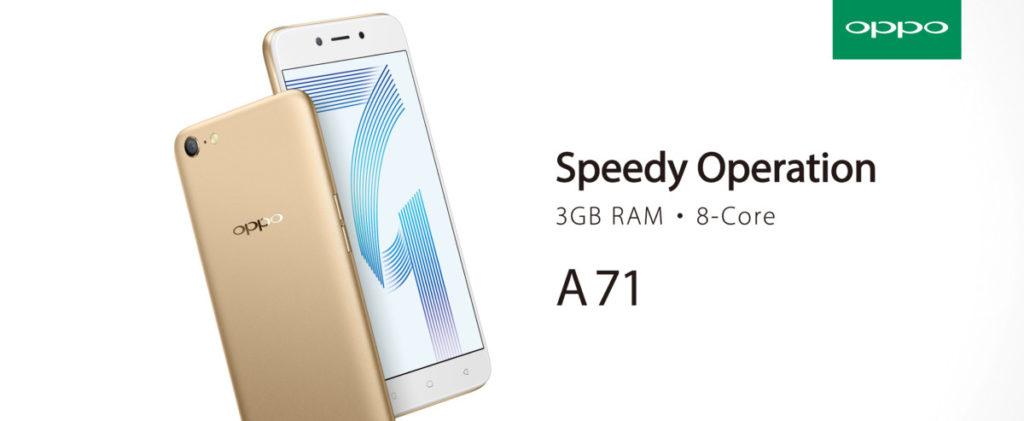 Dancing Oppo A71 in gold