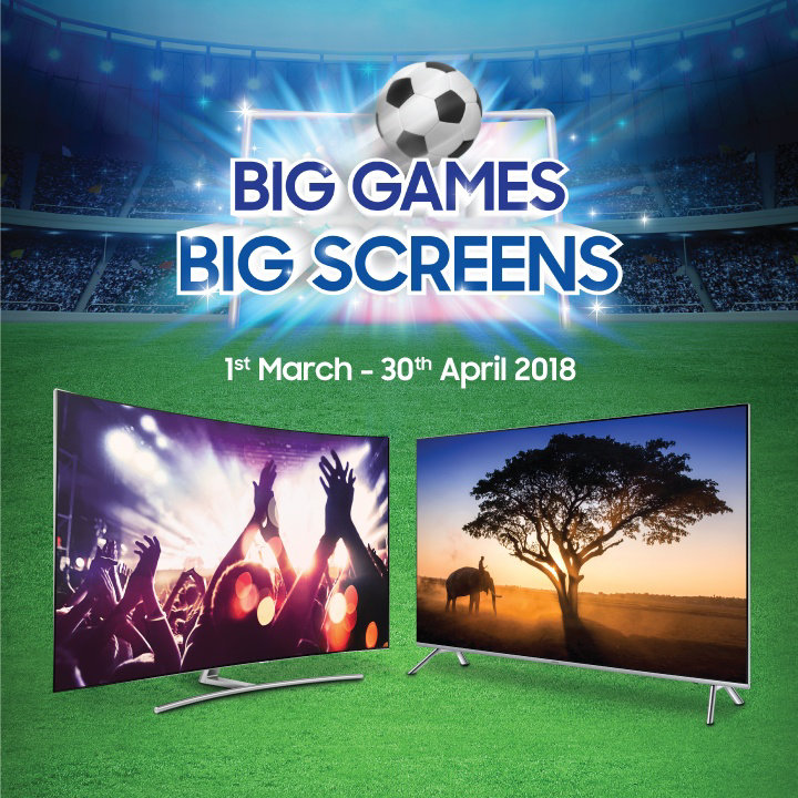 new 39 big games big screens 39 campaign offers up to rm26 000 in free gifts with samsung 4k tvs. Black Bedroom Furniture Sets. Home Design Ideas