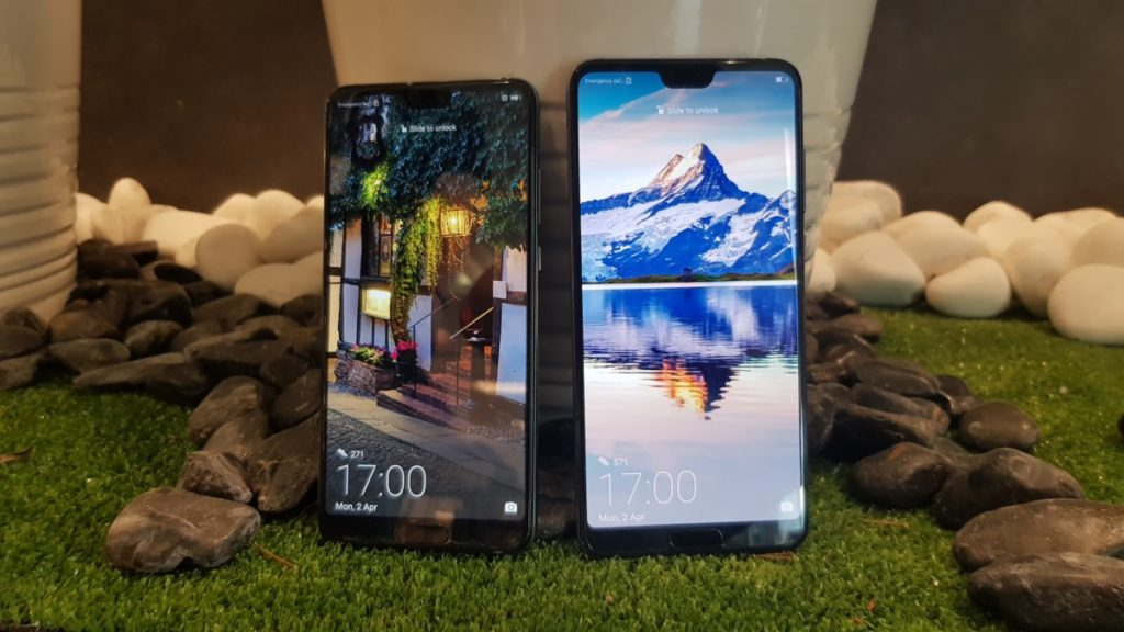 The Huawei P20 and P20 Pro both sport notched displays that can optionally be turned into normal ones via display settings