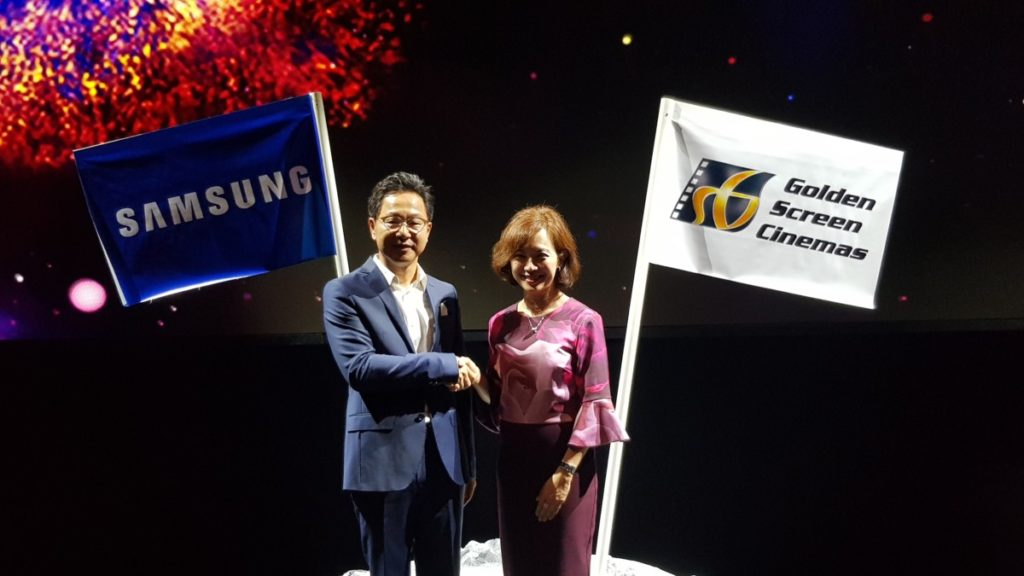 Mr Yoonsoo Kim, President of Samsung Malaysia and Ms. Koh Mei Lee, Chief Executive Officer of Golden Screen Cinemas