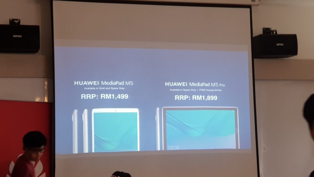 Prices for the MediaPad M5 and M5 Pro