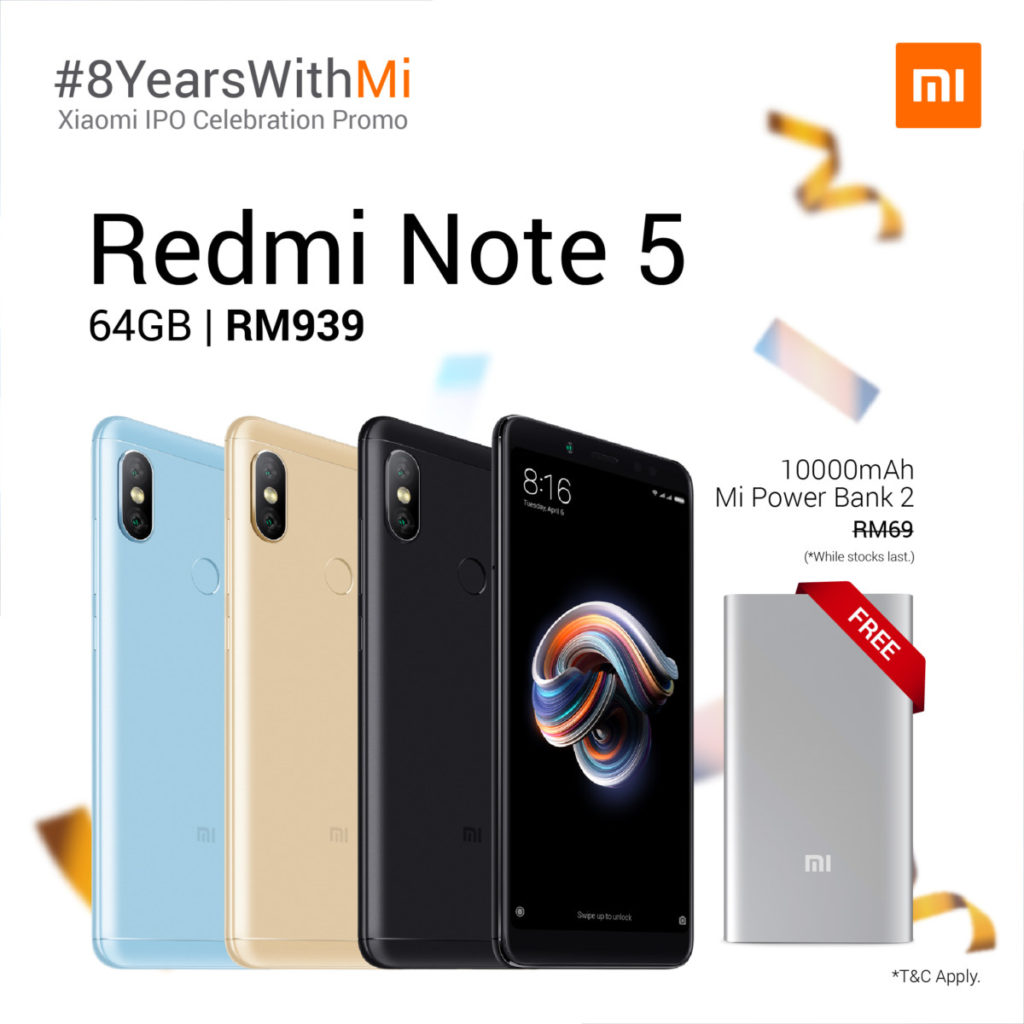 Redmi Note 5 64gb promo