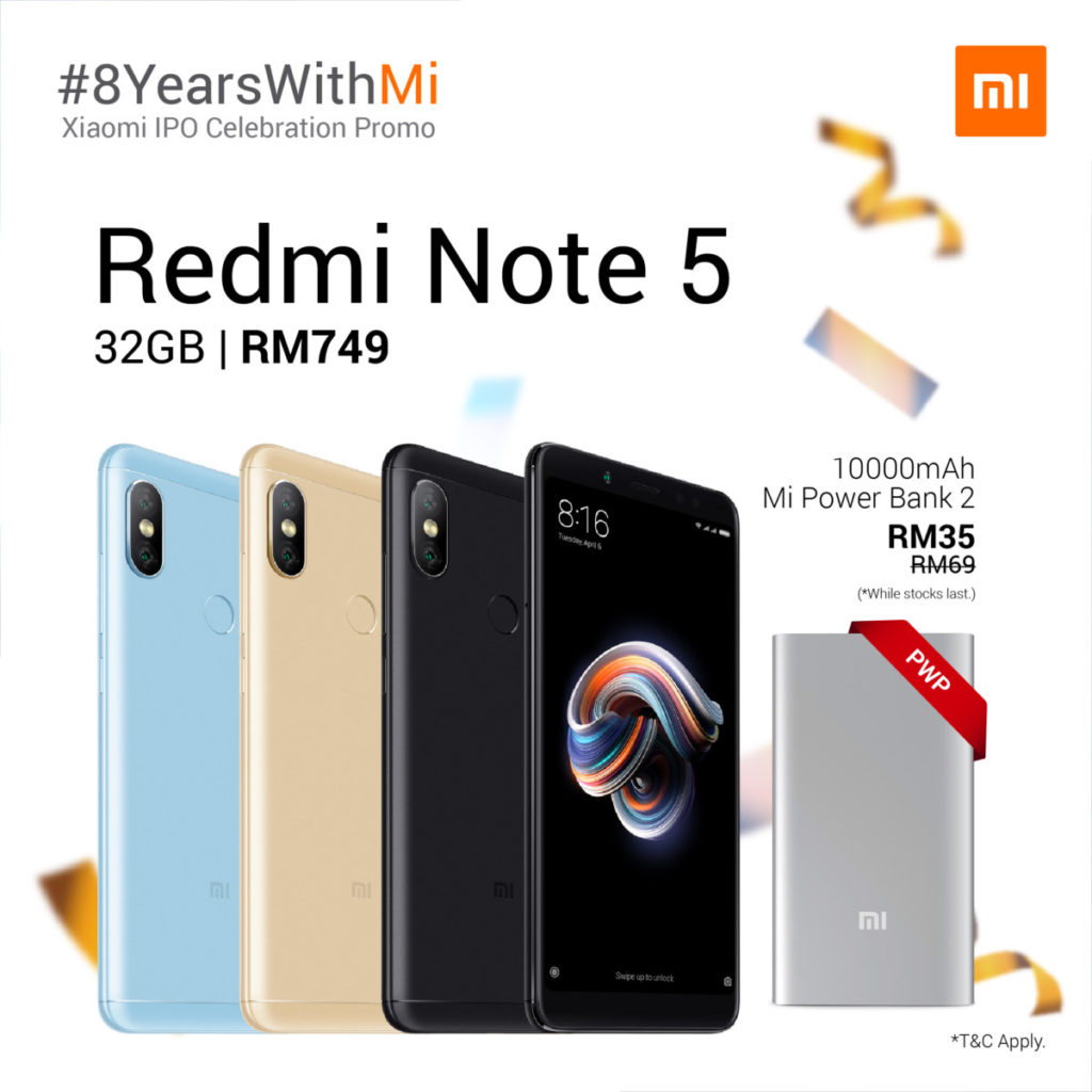 redmi note 5 32gb promo