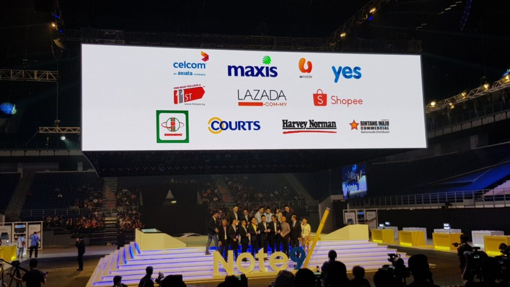 A host of participating retail partners who will carry the all new Samsung Galaxy Note9 in Malaysia