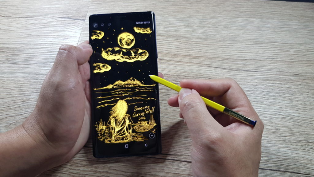 The responsiveness of the S Pen lends itself well to drawing and the odd note to self.