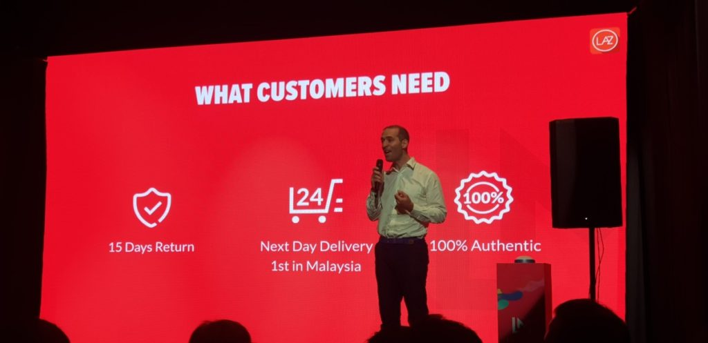 Christophe Lejeune, Chief Executive Officer, Lazada Malaysia launching LazMall in Malaysia