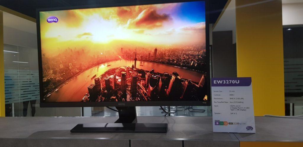 BenQ showcases 4K HDR equipped EW3270U and EL2870U monitors