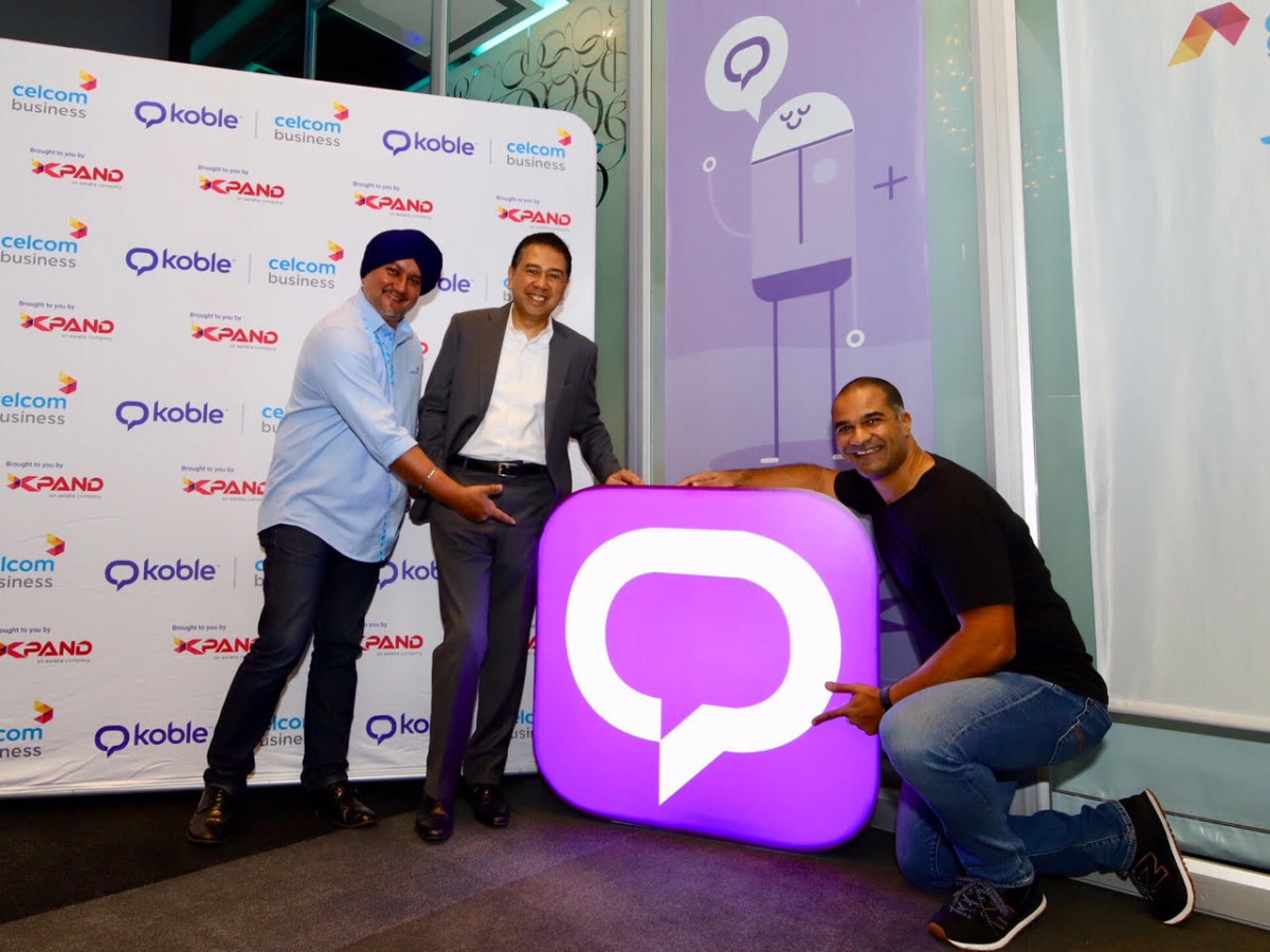 From left: Surinderdeep Singh,Head, Enterprise Business and Solution, Celcom Axiata Berhad; Asri Hassan Basri, Chief Executive Officer, Xpand; Fabrice Saporito, Koble Founder and CEO