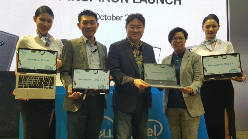 Dell representatives showcasing the new Dell range