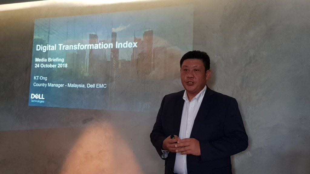 KT Ong, Country Manager - Malaysia, Dell EMC sharing the findings of the latest Dell Technologies Digital Transformation Index