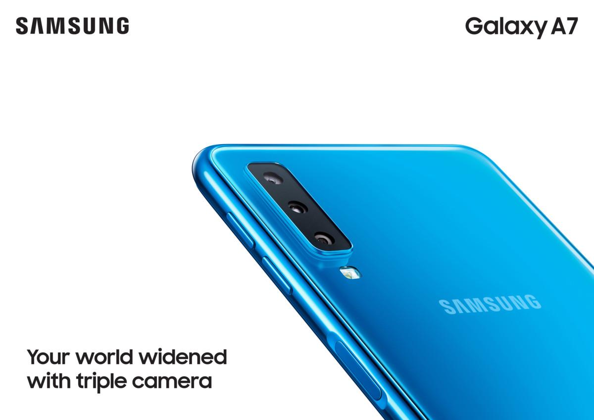 Galaxy A7 2018 rear shot
