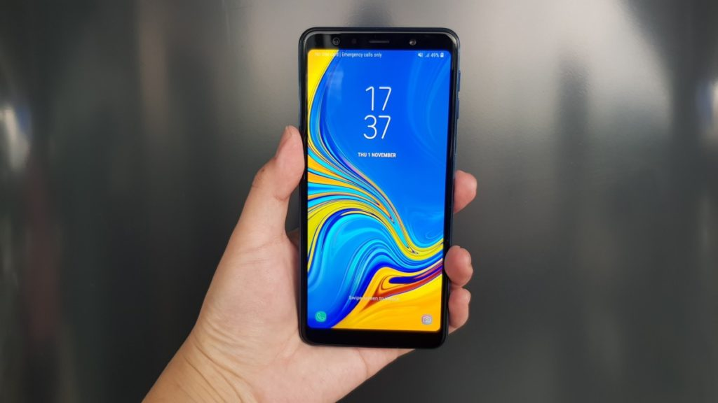 Galaxy A7 2018 front image