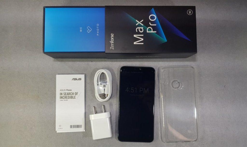 Asus Zenfone Max Pro M2 box contents