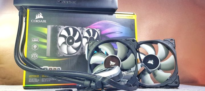 Cool runnings with Corsair H100i Pro RGB liquid CPU cooler fan