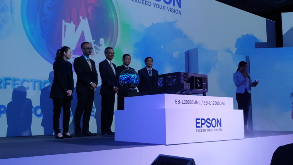 The official launch of the Epson EB-L20000UNL and EB-L12000QNL laser projectors
