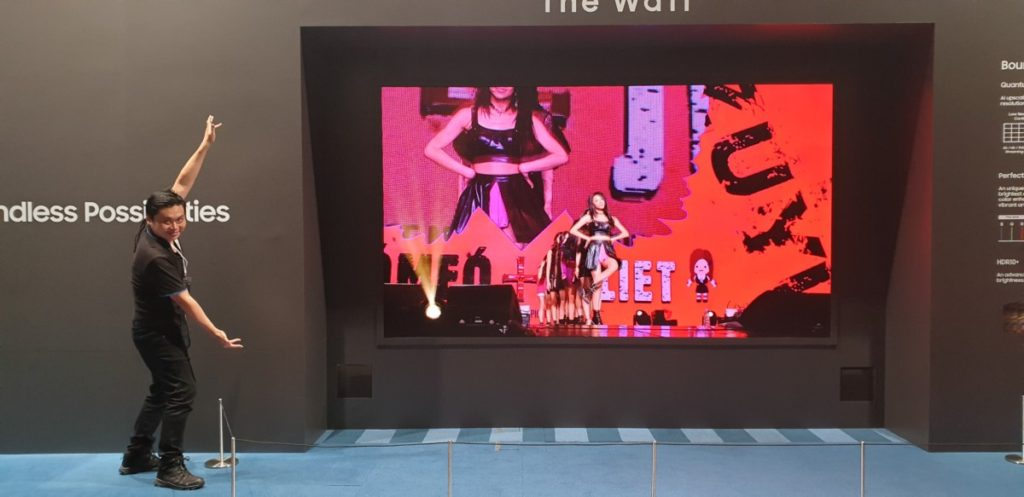 The Wall TV is modular and customisable with micro LEDs that offer superb blacks and colour reproduction